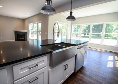 Kitchen Counter top Absolute Black Hoaned