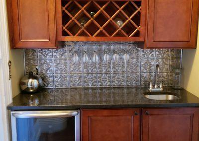 Bar made out of Black Pearl granite quartz