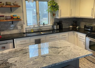 black pearl and viscount white countertop