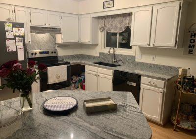 viscount white countertop kitchen